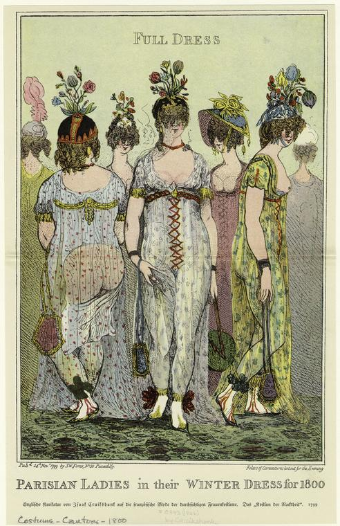 Parisian Ladies in their Winter Dress for 1800, Courtesy of New York Public Library